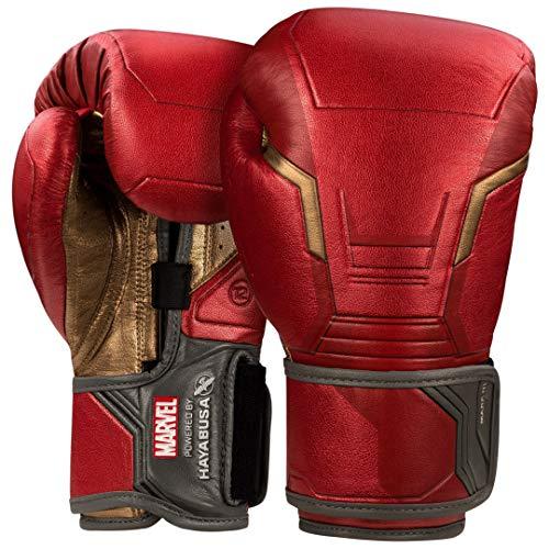 Hayabusa Marvel Hero Elite Boxing Gloves for Men and Women - Iron Man, 16 oz