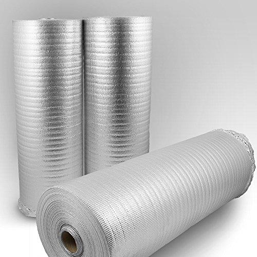 Trittschalldämmung mit Alu-Dampfsperre PE-Schaumfolie Dämmung Unterlage Laminat Parkett Stärke:2mm (50m)