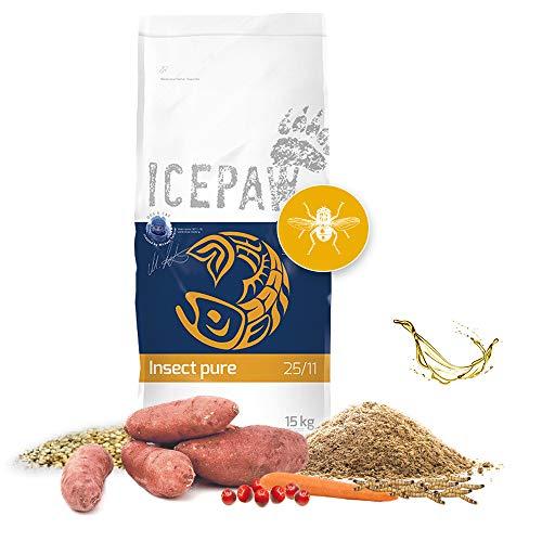 ICEPAW Insect Pure, Hypoallergenes Trockenfutter für Hunde, mit Insekten 15 kg