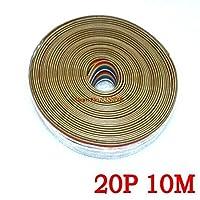 リボンケーブル20 WAYフラットカラーレインボーリボンケーブルワイヤーレインボーケーブル20Pリボンケーブル1.27MMピッチ10メートル/ロット在庫あり