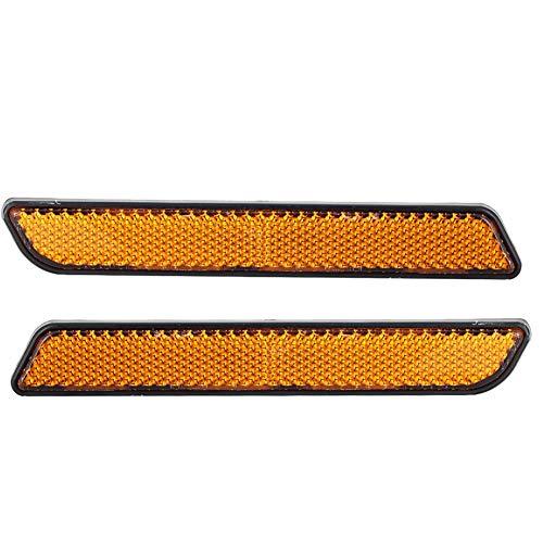 Outbit Motorfiets reflector - 2 stuks plastic motorfiets remstop signaal knipperlicht reflectoren toebehoren geel