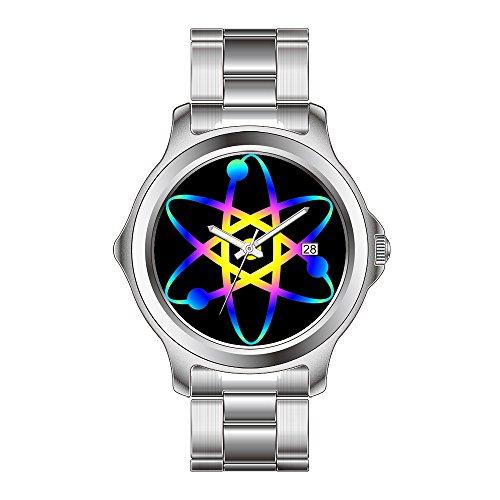 FDC Weihnachten Geschenk Uhren Herren Fashion Japanisches Quarz-Datum Edelstahl Armband Armbanduhr Atom Handgelenk Uhren