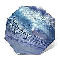 折りたたみ傘 渦の波浪の日傘 遮光 紫外線遮蔽率99% 超耐風撥水 梅雨対策 携帯しやすい晴雨兼用