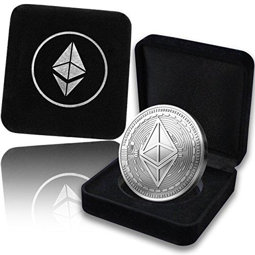 innoGadgets Physische Ethereum Medaille mit echtem Silber überzogen. In einer edlen Schatulle für ein wahres Sammlerstück