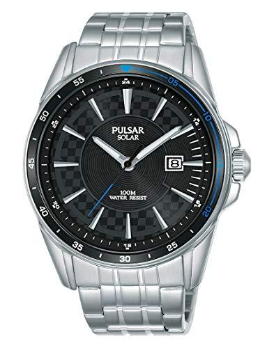 Pulsar Herren Analog Quarz Uhr mit Leder Armband PS9463X1