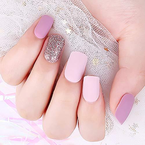 Doreliss uñas postizas 30 Pcs – con adhesivo de doble cara Pale Lavender