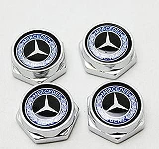 TSD 4 Pcs Separate Zinc alloy Car License Plate Frame Universal Bolt Screws Fasteners For Mercedes Benz Series