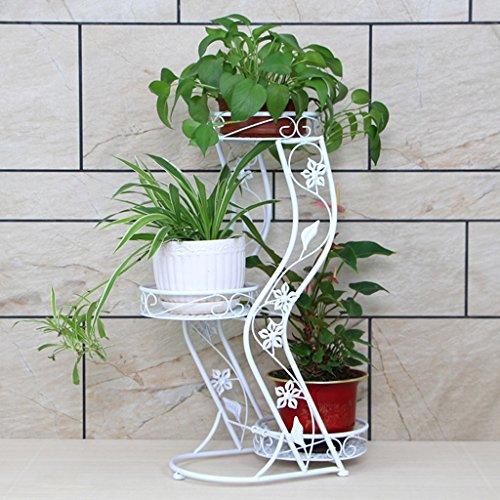 $Etagère d'exposition Support de fleur Support de fleur en fer forgé Support de plante sur pied Support de pot en multicouche pour balcon intérieur ( Couleur : A )