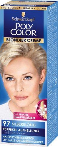 Schwarzkopf Poly Color Blondier crème haarkleur, 9097 zilverblond niveau 3, 3-pack (3 x 89 ml)