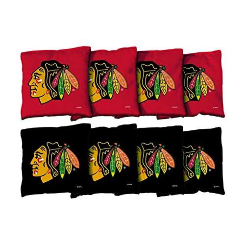 Victory Tailgate NHL Chicago Blackhawks Cornhole Game Bag Set - Corn-Filled - Regulation Sized