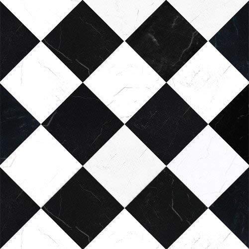 The Dolls House Emporium Noir/blanc « marbre » Carreaux papier bow