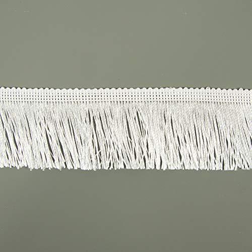 Fransen Fransenborte 5 cm breit weiß Borte Accessoires Karneval Dekorationen - Preis gilt für 1 m
