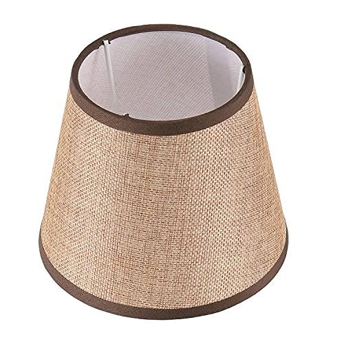 OVBBESS Sombra de lámpara de lino natural, tonos de araña mejorados, lámparas de construcción de lino para luces de pared