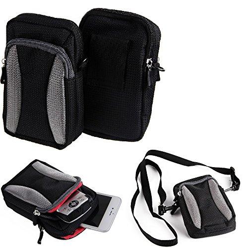 K-S-Trade Schutz-Hülle Kompatibel Mit HTC One M9 (Prime Camera Edition) Handy Gürteltasche Umhängetasche Mit Zusatzfach Schwarz