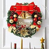 Sayla Weihnachten Dekoration Kreativ Weihnachten Türkranz Weihnachten Dekoration Weihnachtsgirlande Kränze 30-35CM - 3