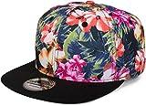 styleBREAKER Snapback Cap mit Blumen Print