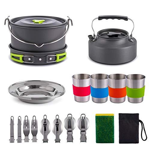 Kit de utensilios de cocina para acampar para 3-4 personas Juego de...