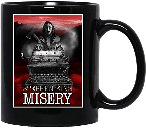 N\A Misery Stephen King Horror Máquina de Escribir Película Película Tazas de café de cerámica Tazas