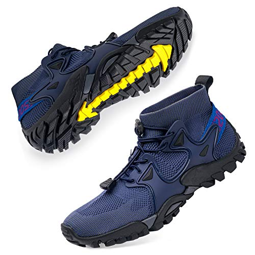 SOBASO Women Hiking Shoes Trail Running Shoes Lightweight Fitness Sport Shoes for Gym Tennis Cross Trainer Hiking Shoes Trail Running Hiking Driving Driving Yoga Navy Black