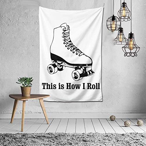 Tapisserie Wandbehang Dekoration für Schlafzimmer Wohnzimmer (Vintage Puerto Rico-Flagge, 129,5 x 149,9 cm), Textil, This is How I Roll Rollschuhe Weiß, Einheitsgröße