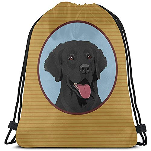 Clever Labrador Honden Dieren Pet String Rugzak Cooler Polyester Bag Tassen Boy Drawstring Bag voor Gym Travel