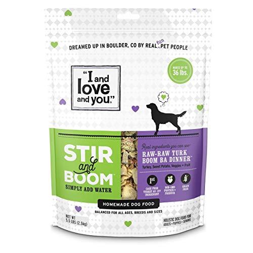 I and love and you Stir & Boom Dehydrated Freeze Dried Raw Dog Food, Turkey, 5.5-Pound Bag