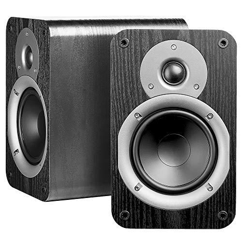Review Nero Studio5 Dynamic Power Handling 100W Hi-Fi 5.25 Bookshelf Speakers, Black Wood Grain Des...