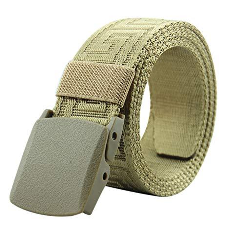 HOUMENGO CinturóN De Lona Con Hebilla Ajustable Para Hombres Y Mujeres CinturóN De Lona Deportes Al Aire Libre - Cinturones Elásticos Tejidos de Mujer para Jeans