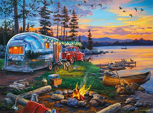 """Camping Diamond Painting Kits for Adult Kids,5D DIY Art Diamond Painting By Number Kits,Perfect Wall Decoration, Great Gift for Family and Friends 15.7""""X 11.8"""""""