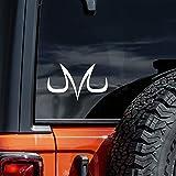 DBZ Majin Vegeta M Decal Sticker for Cars Laptops Tablets Skateboard   White   6'