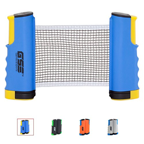 Why Should You Buy GSE Games & Sports Expert Anywhere Retractable Table Tennis Net and Post. Adjusta...