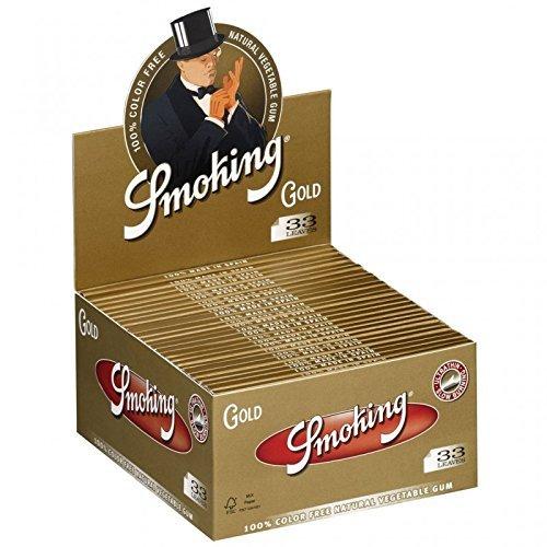 Smoking Zigarettenpapier Gold Slim King Size–50Blättchen