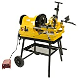 Steel Dragon Tools 6790 Power Pipe Threader Threading Machine 1/2in. - 4in. Capacity with Foot Switch Self-Oiling Die Head and Cart