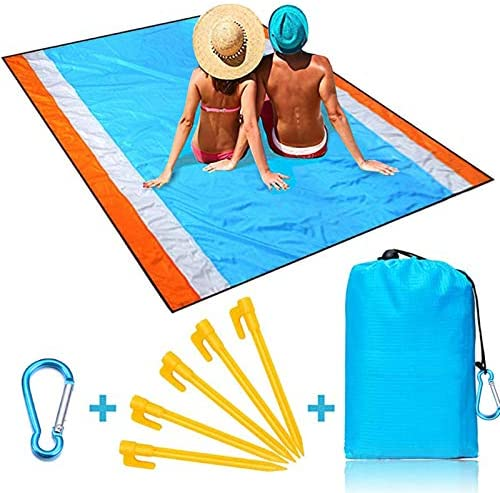 Naohiro Sand Free Beach Blanket Extra Large 79 X 82 for 4 7 Persons Beach Mat Outdoor Picnic product image