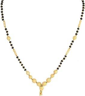 BANDISH Gold Plated Traditional Kalash Designer Mangalsutra for Women