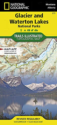 Glacier and Waterton Lakes National Parks (National Geographic Trails Illustrated Map (215))
