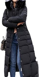 Women's Fashion Belt Long-Sleeve Warm Hoodie Overcoats Coats Down Coat