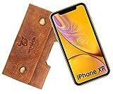 MATADOR Ledertasche Handmade kompatibel zu Apple iPhone