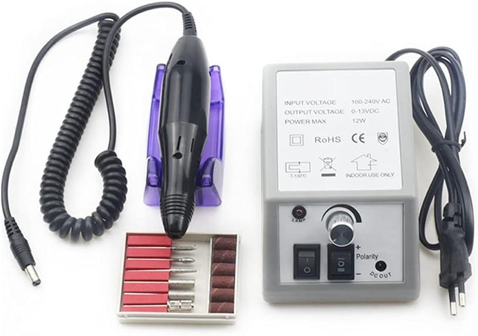 35000/20000 RPM Máquina de Taladro de Esmalte de uñas Manicure Electronic Nail File Drill Manicure Pedicure Kit Equipo de Arte de uñas (Color : 20000-2)