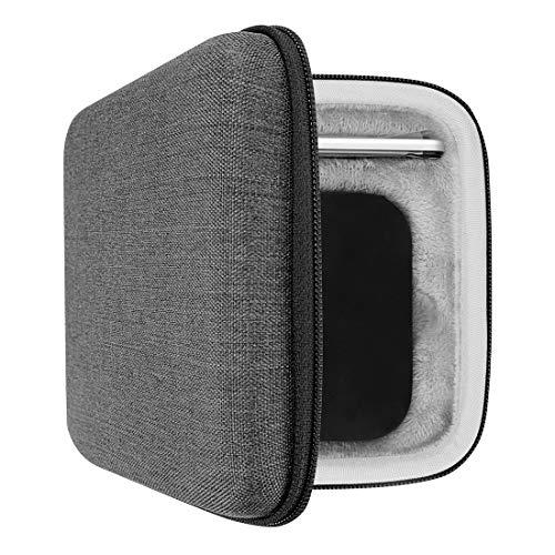 Geekria UltraShell Coque en EVA pour Apple TV 4K (32 Go / 64 Go, dernier modèle) Housse de protection rigide de voyage avec espace pour télécommandes et accessoires (Noir)