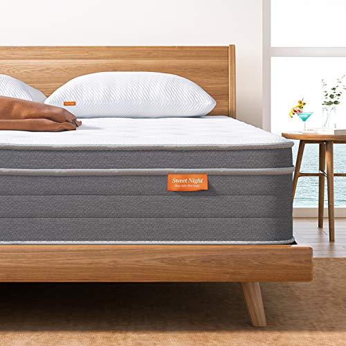 Sweet Night 10 Inch King Mattress in A Box - Sleep Cooler...