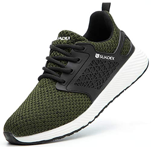 SUADEX みどり安全靴スニ一カ一 あんぜん靴 軽量 作業靴スニ一カ一 工事現場 通気性 鋼先芯 ケブラー 耐摩耗 防刺 耐滑 ワークシューズ セーフティーシューズ