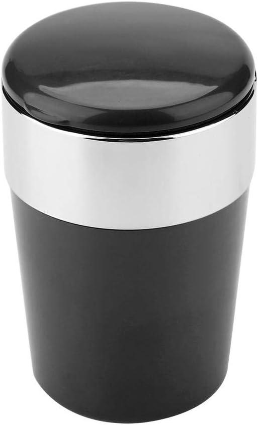 Black Port/átil con luz LED para el hogar para la Taza del autom/óvil Lecxin Cenicero sin Humo del Coche Cenicero de Cigarrillos ABS Cigarrillo Cenicero Cenicero