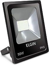 Refletor De Led, Elgin, 50W, 6500k, Bivolt, Preto