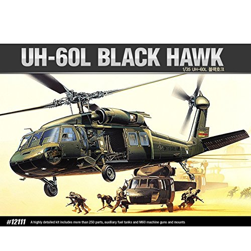 Academy Models 12111 1/35 UH-60L 1/35 Scale BLACK HAWK Model Kit Army Helicopter
