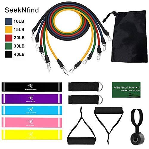 HSC Widerstandsbänder-Set, Expander, Yoga, Fitness, Gummi-Röhrchen, elastisches Zugseil, wie abgebildet