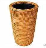 QPSSP-El bambú y el ratán botes de basura, hogar, no Cap, Hostal, Hotel Cubo de basura,20L,B
