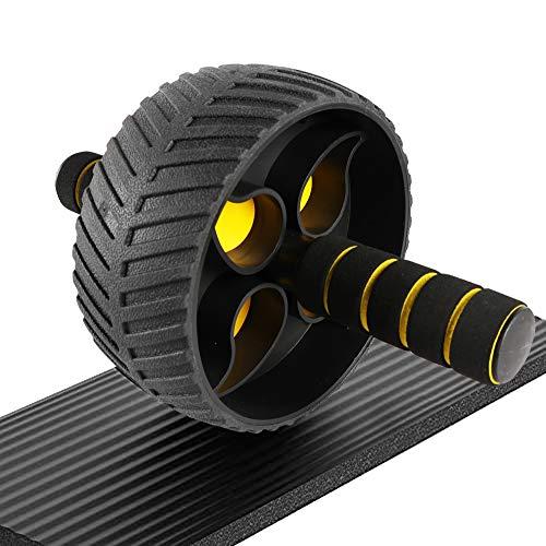 Best Goods Ab roller, ab wheel , ruota allenamento con tappetino per le ginocchia, per il fitness e l'allenamento dei addominali