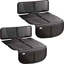 H Helteko Car Seat Protector with Thickest Padding, 2 Pack Car Seat Cover for Child Baby Carseat, Auto Seat Protector from Waterproof & Stain Resistant Kick Mat Material for Leather and Fabric Seat