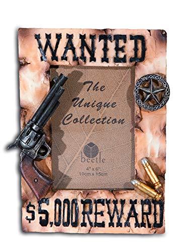 Bilderrahmen Western Pistole Wanted 22/17/3,7 cm